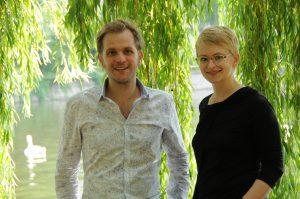 Foto: das Duo Fee Stracke und Alexander Beierbach © Irina Steinbrecher